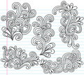 Swirly Notebook Doodles Vector Illustration Royalty Free Stock Photo