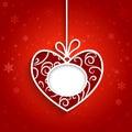 Swirly red heart Royalty Free Stock Photo