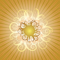 Swirly Sun Royalty Free Stock Photography