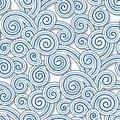 Swirly waves Royalty Free Stock Photo