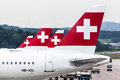 Swiss Air Airplanes Royalty Free Stock Images