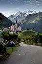 Swiss Alpine village Royalty Free Stock Photo