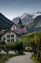 Swiss Alpine village Stock Photo