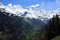 Swiss alps landscape near interlaken in europe Stock Image