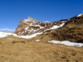 Swiss alps san bernardino pizzo uccello walk in the mountains of graubunden Stock Photography