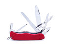 Swiss army knife isolated Royalty Free Stock Photo