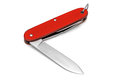 Swiss army pocket knife red isolated on a white background Stock Photos