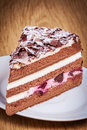 Swiss black forest cherry cake picture of Royalty Free Stock Images