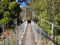 Swiss Bridge In New Zealand Stock Photo
