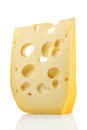 Swiss cheese a piece of emmental Royalty Free Stock Images
