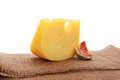 Swiss cheese still life. Royalty Free Stock Images