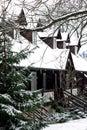 Švajčiarská chata v zime