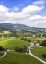 Swiss countryside at gruyeres area Royalty Free Stock Photography