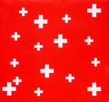 Swiss cross background Royalty Free Stock Photos