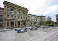 Swiss Federal Institute of Technology  building in Zurich Royalty Free Stock Photo