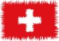Swiss flag stylized (doodle) Royalty Free Stock Photo