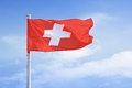Swiss Flag. Royalty Free Stock Photo