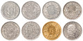 Swiss Franc coin set Royalty Free Stock Photo