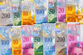 Swiss francs Royalty Free Stock Photo