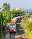 Swiss freight train in germany offenburg Stock Images
