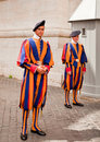 Swiss Guards; Italy - 20 August, 2010 Royalty Free Stock Images