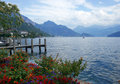 Swiss lake view Stock Photography