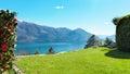 Swiss landscape: garden Royalty Free Stock Photo