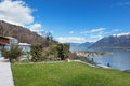 Swiss landscape: garden Royalty Free Stock Photo