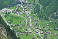 Swiss mountain village Stock Photo
