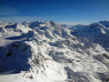 Swiss mountains top mont fort Royalty Free Stock Images