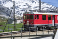 Swiss red train Royalty Free Stock Photo