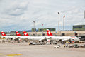 SWISS's air crafts at Zurich airport 2 Stock Image
