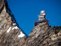 Swiss sphinx observatory high altitude in jungfraujoch pass in switzerland Stock Photography