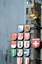 Swiss square commemoration in london Stock Photography