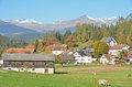 Swiss Village Stock Images