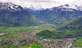 Swiss village top view interlaken and harderkulm Stock Photography