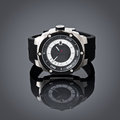 Swiss watches on gray vignette background product photography Royalty Free Stock Photography