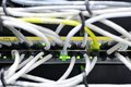 Switch with networking cables Royalty Free Stock Photo