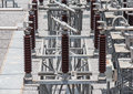 Switch in sub station kv Royalty Free Stock Photos