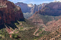The switchbacks from canyon overlook in zion national park view Royalty Free Stock Images