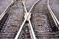 Switching Tracks Stock Photo