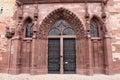 Switzerland, Basel cathedral's Gothic sandstone main entrance Royalty Free Stock Photo