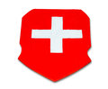 The Switzerland flag Stock Image