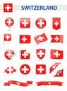 Switzerland Flag Vector Set Royalty Free Stock Photo