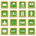 Switzerland icons set green
