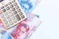 Switzerland money swiss franc banknote