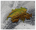 Switzerland, relief map Royalty Free Stock Image