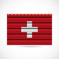 Switzerland siding produce business company icon illustration Royalty Free Stock Photo
