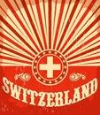 Switzerland Vintage Old Poster...