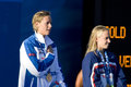 Swm world aquatics championship ceremony womens m freestyl jul rome italy federica pellegrini ita gold medal winner during the Stock Image